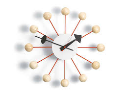 contemporary clock og wall mounted brass