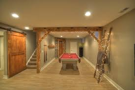 E Inspiration For A Rustic Basement Remodel In Cleveland
