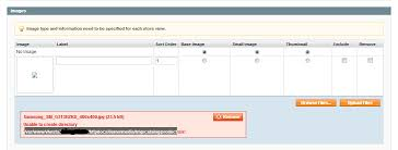 Create A Directory Image Upload Error Unable To Create Directory Magento