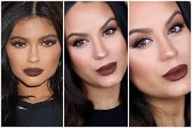 kylie jenner makeup warm smokey eyes dark brown lip makeupbygio you