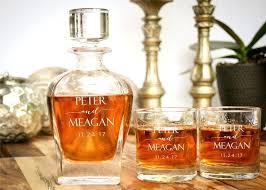 monogrammed whiskey decanter monogram whiskey glass