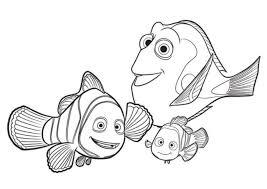 Disegno Di Dory Marlin E Nemo Da Stampare Gratis E Colorare