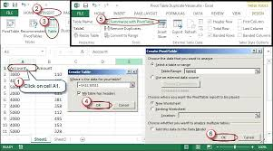 creating pivot tables in excel excel and earlier choose data list create and then next