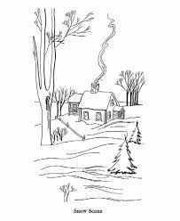 Small Picture Scene Of Winter Coloring Pages Printable Winter Coloring pages