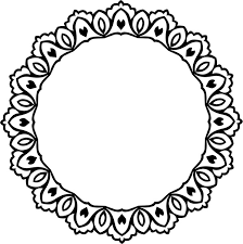 Decorative circle design with vintage abstract border Free vector