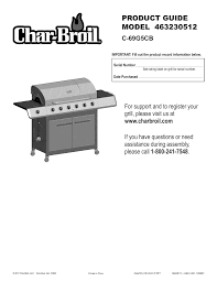 Char Broil Lighting Instructions Char Broil 463230512 Product Guide Manualzz Com