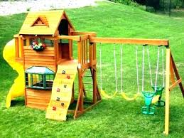 wooden swing set accessories n slide ii kit back view kits home depot build outdoor