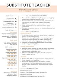 Teaching Resumes Teaching Resume Template Example Document And Resume