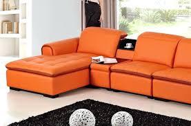 orange sofa bed comfortable contemporary sofa