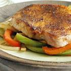 ancho pork chops and peppers