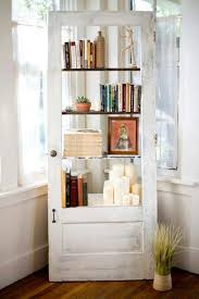 book case recycled from old door