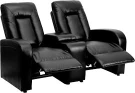 Eclipse Series 2Seat Reclining Black Leather Theater Seating Unit With Cup  Holders BT702592BKGG Recliner Cup Holder And Storage83
