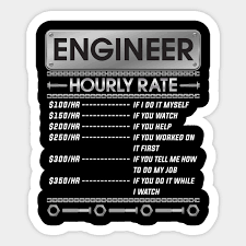Funny Engineer Hourly Rate Price Chart Labor Engineer Gift