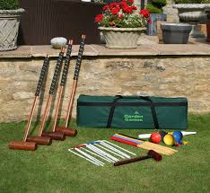garden games longworth croquet set 4 player in a tool kit bag