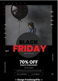 Black Flyer Backgrounds Black Friday Psd Flyer Template Free Download