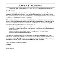 Gallery Of Loss Prevention Supervisor Cover Letter Sample Cover