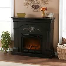 electric fireplace mantel black