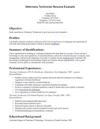 Veterinary Assistant Resume Examples Vet Tech Resume Samples 12 15
