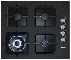 bosch tempered glass gas hob 60cm black