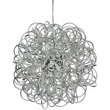 firstlight 3476ch industrial chrome messy wire ceiling pendant light lighting