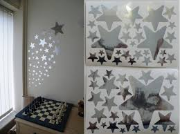 mirror stars wall stickers 2 sheets of
