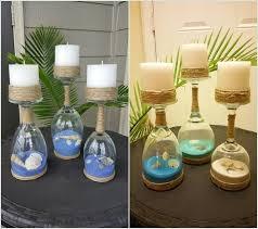 ... Mesmerizing Diy Coastal Candle Holder Ideas 1 Create Holders With Wine  Glasses Twine Real Sea Shells ...