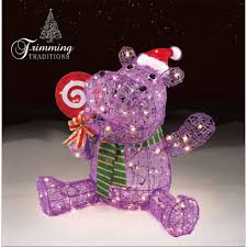 Christmas Decorations Sears Pre Lit Hippo Christmas Decoration Adorable Holidays Start At Sears