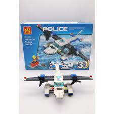 ĐỒ CHƠI TRẺ EM - Xếp hình Lego Máy bay Cảnh sát Chiến Đấu (3 in 1) - Đồ Chơi  Lắp Ráp