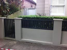 Small Picture 9 best Fencing images on Pinterest Brick fence Fence design and