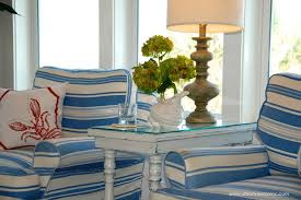 Chairs, Coastal Accent Chairs Nautical Accent Chair Blue And White  Combination Colour Window Lamp And