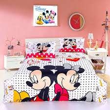 Mickey And Minnie Mouse Bedroom Bedroom Beauteous Disney Bedding Hand Painted Set Duvet