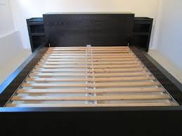 ikea malm queen bed headboard storage