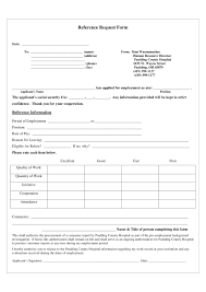 Reference Request Form 24 Reference Request and Release Forms Free Word PDF Format 1