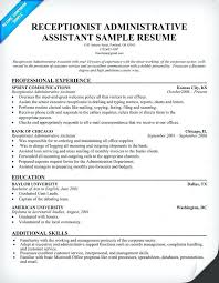 Administrative Assistant Resume With No Experience Best Medical