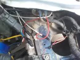 1992 honda civic dx hatch wiring problems and idle power issues you can see in the pic above how one of the headlights is wired the white are extensions running ton the other headlight also you can see the plug for the