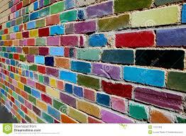 brick wall painted royalty free stock image painted brick wall