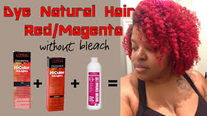 Dye Natural Hair Red Or Magenta Without Bleach Using L Oreal