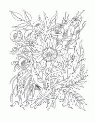 Free Flower Coloring Pages For Adults Download Books Within Vietti