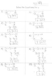 systems of equations by graphing solving worksheet systems algebra lesson lesson full size