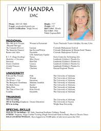 Free Acting Resume Template 100 Acting Resume Template Free Skills Based Resume Free Actor 3