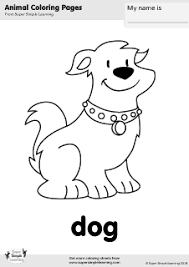 Select from 35602 printable coloring pages of cartoons, animals, nature, bible and many more. Dog Coloring Page Super Simple