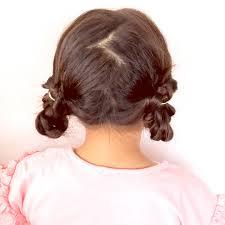 ゴムだけでも作れるツインまとめ髪ヘアアレンジ 女の子のママ必見