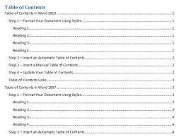Table Of Contents Apa Apa Style Research Paper Example With Table Of Contents