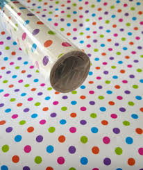 10ft Polka Dot contact paper Shelf liner peel & stick 10ft x 12