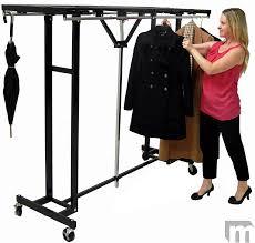 Portable Folding Coat Rack Amazing FlexibilityEasily Folds Up and Rolls Away 16