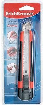 Нож <b>канцелярский ErichKrause</b> Arrow, с автоматической ...