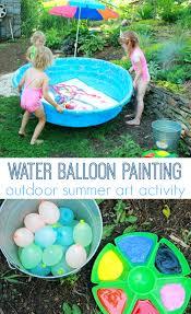 giant abstract art for children gross motor painting for children aka water balloon painting