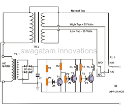 how to build a 2 stage mains power stabilizer circuit whole mains ac voltage stabilzer circuit using two transistors 220v 120v