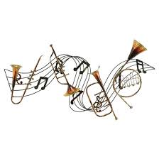 jazz notes with instruments wall decor