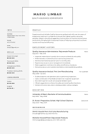 Quality Assurance Resume Templates 2019 Free Download